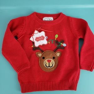 Mud Pie Jackets & Coats - New Mud Pie Baby Embroidered Christmas Sweater
